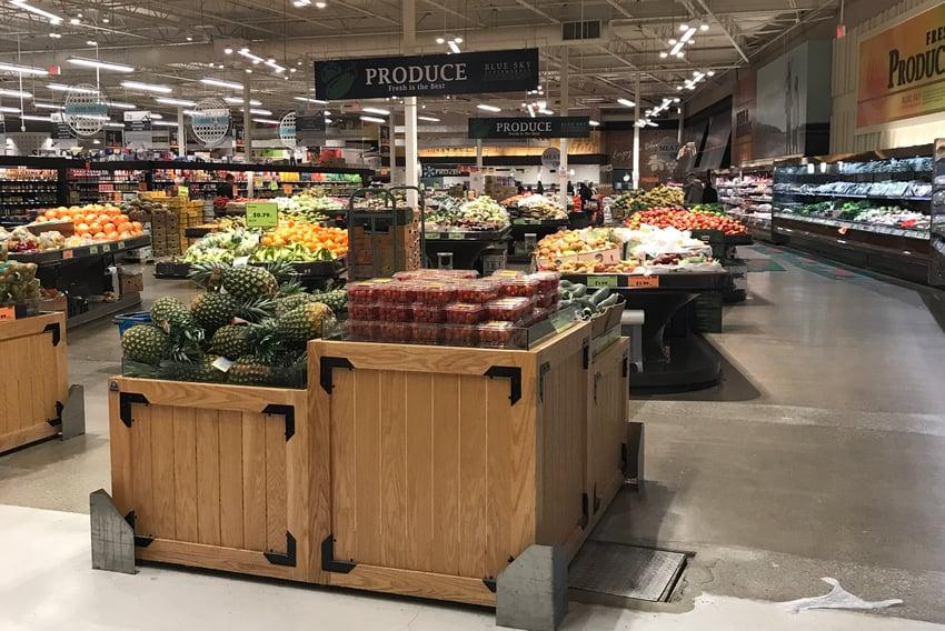 Produce section of Blue Sky Supermarket
