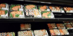 Blue Sky Supermarket sushi and sashimi offerings