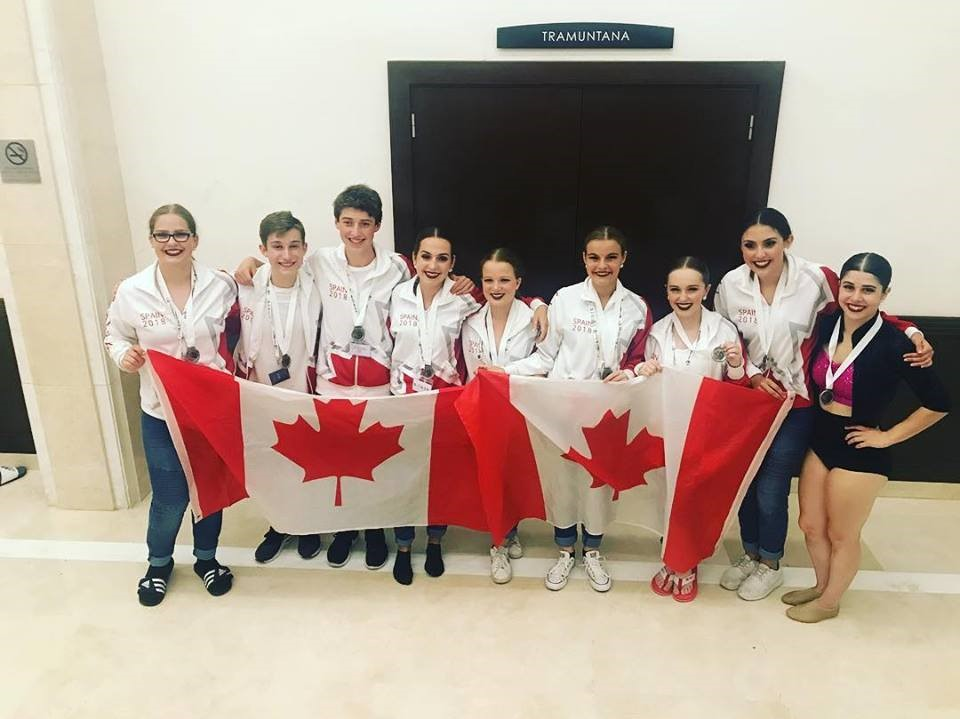 Doraianna and her team at the 2018 Dance World Cup