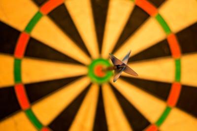 bullseye on dartboard