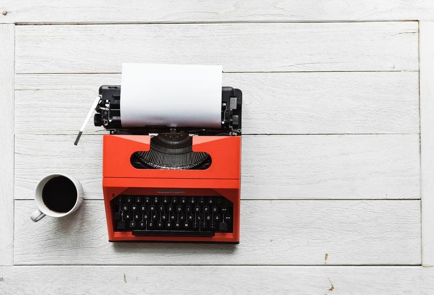 orange typewriter