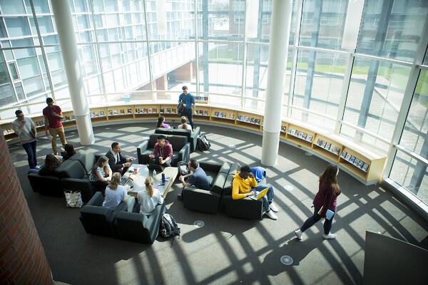 North campus library, fireside reading room