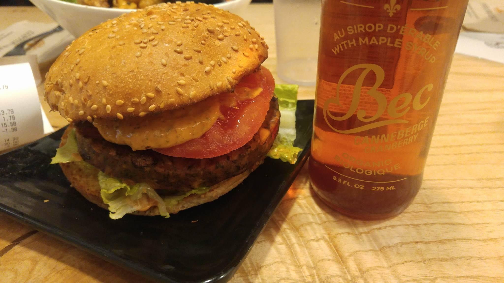 Southwest Black Bean Vegan Burger