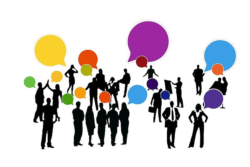 Graphic of people networking